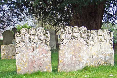 Skulls on gravestones - Bedhampton Parish