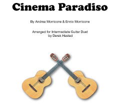 Cinema Paradiso - a moving, gentle piece arranged for 2 guitars by Derek Hasted.