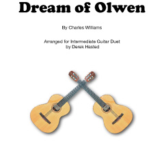 Dream Of Olwen - a fantastic piece arranged for 2 intermediate guitars.