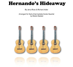 Hernando's Hideaway - a fun to play and accessible arrangement for 4 Guitars/large ensemble
