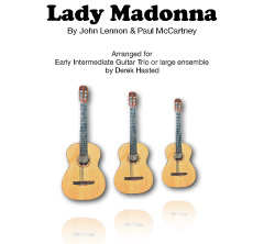 Lady Madonna - The Beatles - accessible arrangement for 3 Guitars