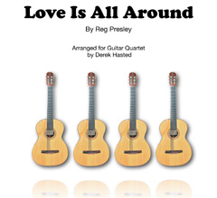 Love Is All Around for Guitar Quartet