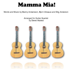 Mamma Mia (Abba) - arranged for 4 guitars by Derek Hasted)
