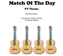 Match Of The Day (TV Theme) for 4 guitars or large ensemble