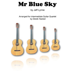 Mr Blue Sky for Guitar Quartet