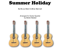 Summer Holiday - a fun and accessible arrangement for 4 Guitars/large ensemble