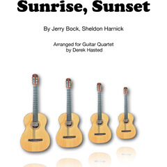 Sunrise Sunset for 4 guitars