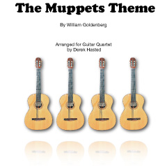 The Muppets Theme - an easy to play accessible arrangement for 4 Guitars/large ensemble