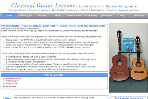 Private Guitar Lessons - Hampshire
